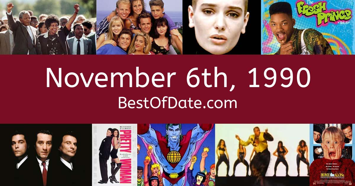 November 6th, 1990 - Facts, Nostalgia and Events!