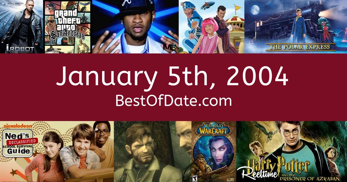 January 5th, 2004 - Facts, Nostalgia and Events!